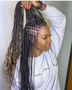 27 Likes, 1 Comments - Hair Box Braids Hairstyles, Braids Hairstyles Pictures, Braided Hairstyles For Black Women, My Hairstyle, African Hairstyles, Girl Hairstyles, Black Girl Braids, Braids For Black Women, Braids For Black Hair