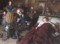 "El médico rural (""The country doctor""). Morgan Weistling. 2013. Localización: Autry Museum of the American West  (Los Ángeles). https://painthealth.wordpress.com/2016/05/20/el-medico-rural/"