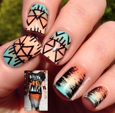 Southwestern tribal nails
