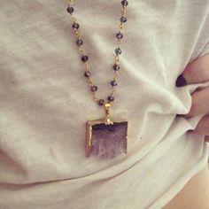 Amethyst Slice Rosary