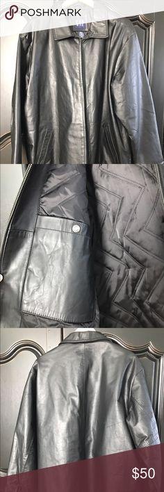 Gap Leather Jacket Black leather jacket. Size XL. Great condition. One small mark on back. GAP Jackets & Coats Bomber & Varsity