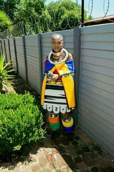 Ndebele n Bride. South African Traditional Dresses, African Traditional Wedding, Traditional Outfits, Traditional Weddings, African Attire, African Wear, African Women, African Tribes, African Style