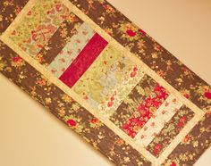 Table Runner Christmas holiday Patchwork   Tablerunner -  Modern Traditional. $48.00, via Etsy.