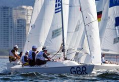 Britons launch comeback bid on sailing day three 14.09.2016 Experienced crew recover to fifth in Sonar contest but Australians still well out in front as Paralympic competition continues. - Great Britain Sonar team - Rio 2016