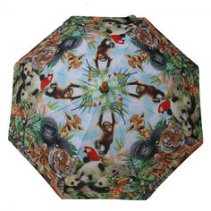 Click on the image to find out this #umbrella printed with jungle #animals.  https://www.rosemarie-schulz.eu/en/kids-umbrellas/438-children-umbrella-animals.html
