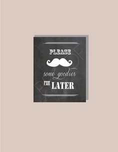 Instant Download  Chalkboard Classic STACHE by BordenSpecifics, $7.00