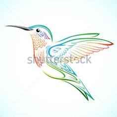 Colorido Colibrí imágenes prediseñadas (clip arts) - ClipartLogo.com