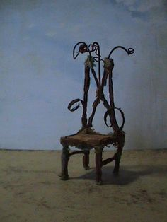 Fairy Furniture Little Gnome Throne by MikeSchramer on Etsy