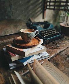 Book and coffee photography inspiration teas ideas Book And Coffee, Coffee And Books, Coffee Shop, Coffee Cups, Cozy Coffee, I Love Coffee, Night Coffee, Winter Coffee, Coffee Lovers