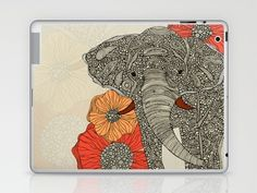 The Elephant Laptop & iPad Skin by Valentina - 25.00