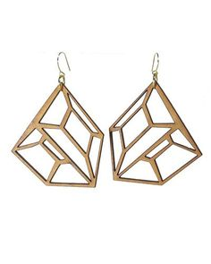 natural earrings from wood