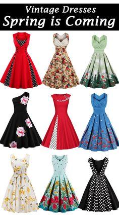 Vintage Dresses,Spring Dresses