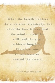 "www.mindfulmuscle.com ""Control the breath..."" Pranayama"