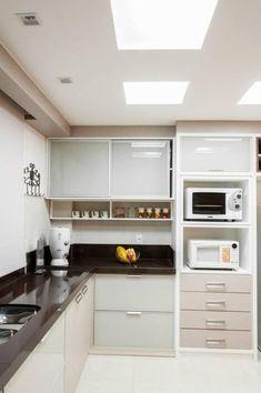 Cozinha planejada Branca de Graziela Von Muhlen - 95900 no Viva Decora #Espaço