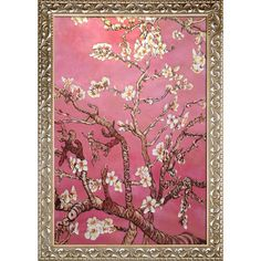 La Pastiche Original 'Branches of an Almond Tree in Blossom, Pearl ' Hand Painted Framed Art