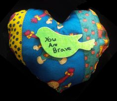 You are brave Heart in bloom Quilted Heart from Knox United Church, Nepean, ON