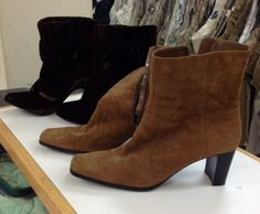 Suede boots.  Can't choose-get both goodwillwny.org