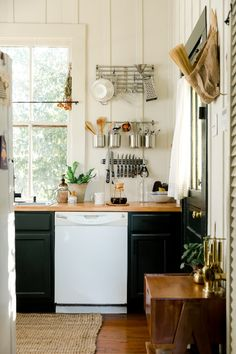 Baton Rouge Rental House Tour Photos | Apartment Therapy Bedroom Fireplace, Living Room Bedroom, Kitchen Dinning, New Kitchen, Kitchen Ideas, Dining Room, Small Living, Home And Living, Simple Furniture