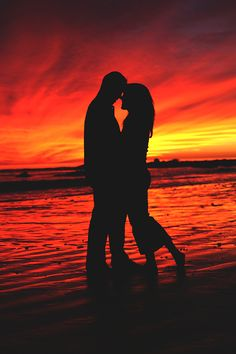 California Sunset, Lovers on the Beach