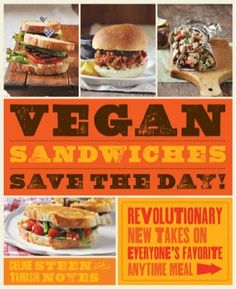 Enter to win a copy of Vegan Sandwiches Save the Day!