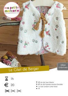 Tuto Gilet de Berger Pour Enfant by Ma petite Mercerie Girl Dress Patterns, Blouse Patterns, Skirt Patterns, Gta 5, Maxi Dress Tutorials, Fleece Hats, Baby Couture, Kids Outfits, Crochet Patterns