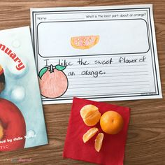 Literacy Snack Idea Oranges -An Orange In January