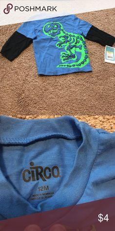 Dinosaur shirt NWT. 12m boy Dino shirt. Perfect bundle item. Circo Shirts & Tops Tees - Long Sleeve
