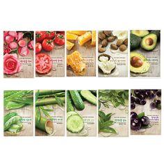 Nature Republic Real Nature Mask Sheet 10 pcs _Aloe/Rose/Acai Berry/Cucumber etc #NatureRepublic