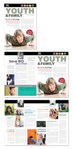 graphic design newsletters ministry | Church Ministry & Youth Group Newsletter Template