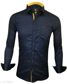 Checkout this latest Shirts Product Name: *Trendy Men's Cotton Shirt* Fabric: Cotton Sleeve Length: Long Sleeves Pattern: Solid Multipack: 1 Sizes: S, M, L, XL, XXL Country of Origin: India Easy Returns Available In Case Of Any Issue   Catalog Rating: ★4 (483)  Catalog Name: Elegant Mens Cotton Shirts Vol 10 CatalogID_137238 C70-SC1206 Code: 084-1113203-2121