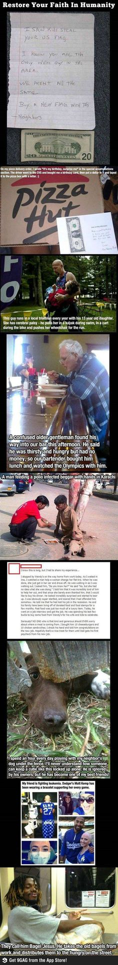True acts of awesome. And yes, I teared up. Don't judge me.