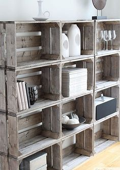 Decoración con palets reciclados y cajas de madera