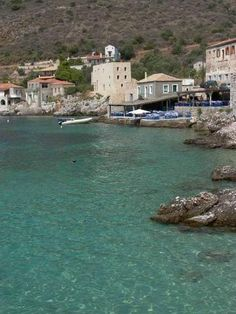 Limeni Village Greece, Beautiful Places, To Go, Spaces, Holidays, Mansions, House Styles, Water, Outdoor