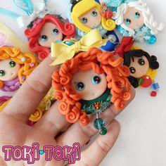 Princess Necklace Polymer Clay Princess Cameo by MadeByTokiToki