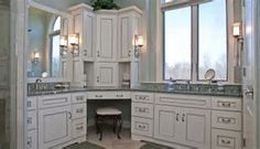 master bathroom Image result for Small L-shaped Vanity