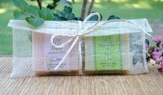 2 Bar Soap Gift Set. These are great to place on the beds of guests.