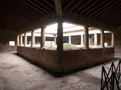 Peristyle of the Villa of the Mysteries, Pompeii Villas, Pompei Italy, Pompeii And Herculaneum, Ancient Greece, My Dream Home, Mystery, House Design, Objects, Roman Art