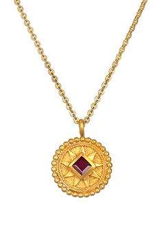 Satya Jewelry 'Mandala' Birthstone Pendant Necklace available at #Nordstrom
