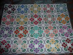 Embroidery Flowers Pattern, Flower Patterns, Cross Stitching, Alphabet, Quilts, Blanket, Rugs, Happy, Lassi