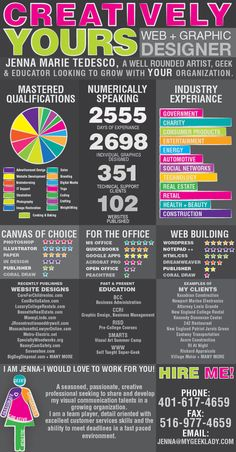 infographic resume by jenna marie tedesco via behance - Infographic Resumes