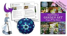 Garden art projects using recycled household items with free instructions. Glass garden art flowers and totems, birdhouses, garden spheres. Garden Crafts, Garden Projects, Art Projects, Diy Crafts, Glass Garden Art, Glass Art, Glass Flowers, Flower Pots, Garden Globes
