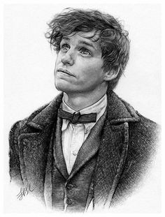 """This fantastic portrait of Newt Scamander perfectly captures his charm and sincerity. """"Newt Scamander"""" by FinAngel"""