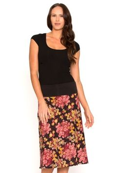 We're offering you the perfect summer collection of women's cotton fashion Buy Skirts Online, Summer Collection, Vibrant, Dark, Floral, Cotton, Stuff To Buy, Women, Fashion