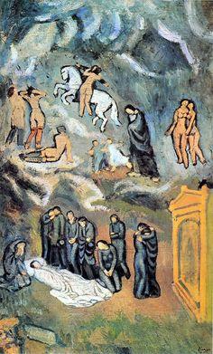 1901Oleo sobre lienzo, 150 x 90 cmParís, Musée d'Art Moderne de la Ville de Paris  Durante la primera estancia parisiense, Carlos Casagemas y Picasso conocieron, en el estudio del pintor barcelonés Isidro No-nell, a la modelo Germane Gargallo. P...