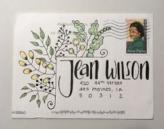 pushing the envelopes: 2019 Convertible top Print begun in an effort to create signs. Envelope Lettering, Envelope Art, Envelope Design, Envelope Writing, Letter Addressing, Addressing Envelopes, Mail Art Envelopes, Cute Envelopes, Mailing Envelopes