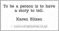 Quotable - Karen Blixen