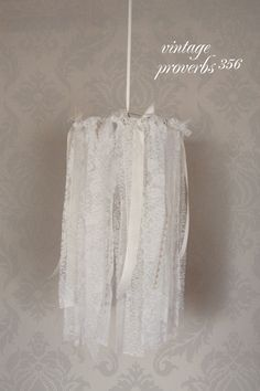 Vintage Inspired Shabby Chic Lace Chandelier Mobile. $48.00, via Etsy.