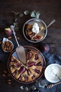 "Ottolenghi's Fig & Almond Cake (recipe) - ""A beautifully rustic, simple, unpretentious yet delicious fig cake, kept moist with ground almonds & yoghurt. Perfect for breakfast or afternoon tea."""