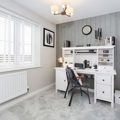 Our stylish study at Kingsmere, Bicester offers a practical home offer yet a stylish and comfortable design. Bovis Homes, New Homes For Sale, Apartments For Sale, New Builds, Home Office, Corner Desk, Building A House, House Ideas, Study
