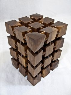 Anderson Ranch Residency by Justin Richards at Coroflot.com - [end table / stool crafted in walnut]